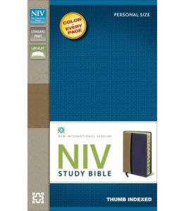 NIV Study Bible | Personal Size | Thumb – Indexed