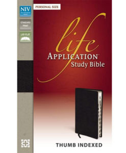 NIV Life Application Study Bible | Personal Size | Thumb - Indexed