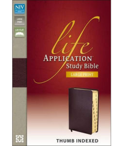 NIV Life Application Study Bible | Large Print | Thumb – Indexed