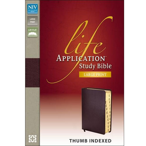 NIV Life Application Study Bible | Large Print | Thumb – Indexed