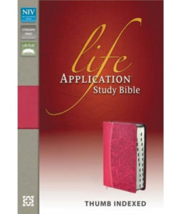NIV Life Application Study Bible | Thumb - Indexed