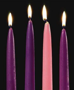 Advent Candles – Set of four 10in x ¾in