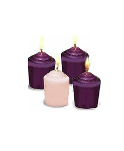 Advent Candles – Votive Candles – Set of Four
