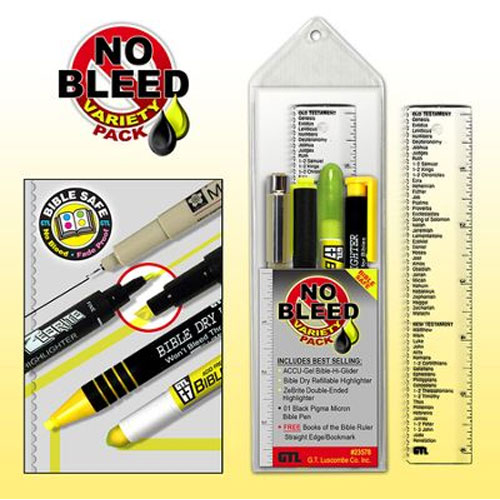Bible Highlighter No Bleed Variety Pack