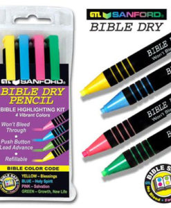 Bible Dry Pencil Highlighter Four Colour Pkg