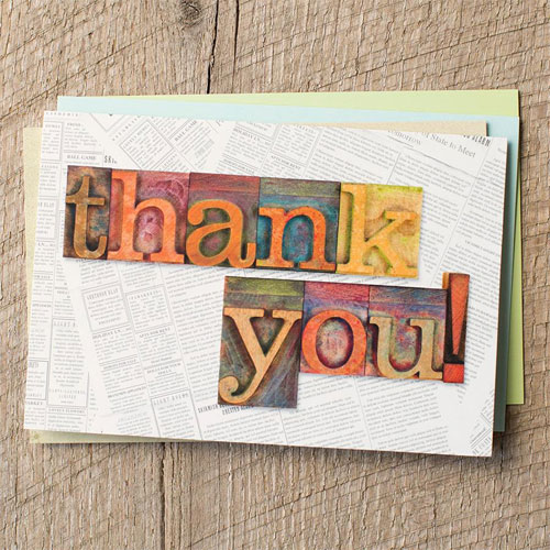 Thank You - Many Blessings - 12 Boxed Cards