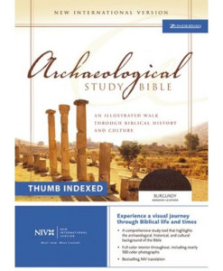 NIV Archaeological Study Bible Indexed