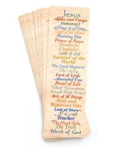 Names Of Jesus Bookmark