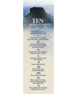 Ten Commandments Mt. Sinai Bookmark