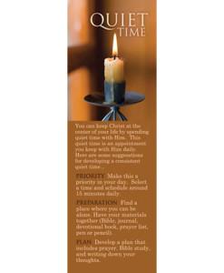 Adult Quiet Time Bookmark