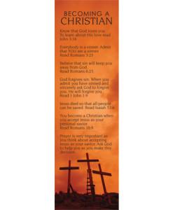 Becoming A Christian Crosses Bookmark