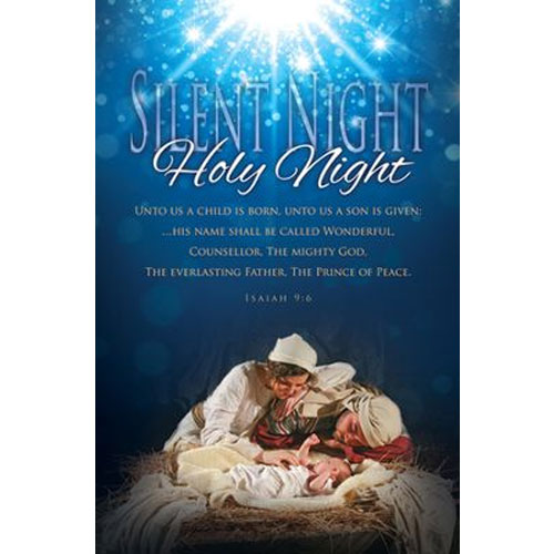 Christmas   Silent Night, Holy Night   Package of 100