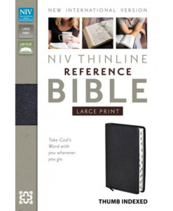 NIV Thinline Reference Bible | Large Print | Thumb-Indexed