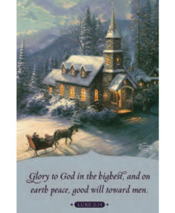 Thomas Kinkade | Glory to God | 18 Christmas Boxed Cards