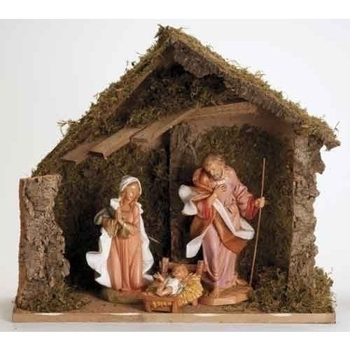 3 Piece Nativity Set with Italian Stable for Fontanini® 12 inch Collection