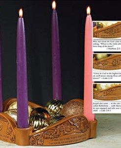 Glory to God Advent Candleholder