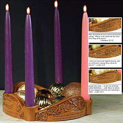 Glory to God Advent Candleholder