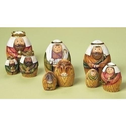 Nativity Nesting - Holy Family/3 Kings/Shepherd