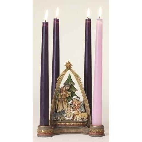 Advent Nativity with Arch Figure Candle Holder