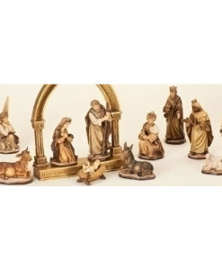 Soft Brown and Gold Coloration Nativity Set