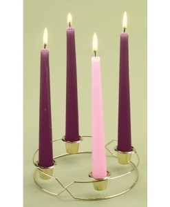 Advent Wreath Metal with Candles