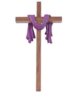 "10"" Walnut Cross with Purple Finish Robe"