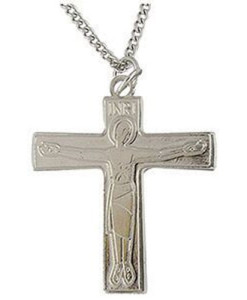 "Cursillo 1 ¾"" Silver Finish Cross"
