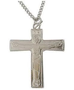 """Cursillo 1 ¾"""" Silver Finish Cross"""