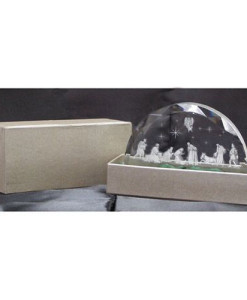 Nativity Scene In Etched Glass