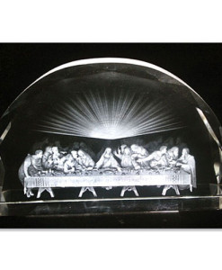 Last Supper Scene In Etched Glass, Faceted Edge