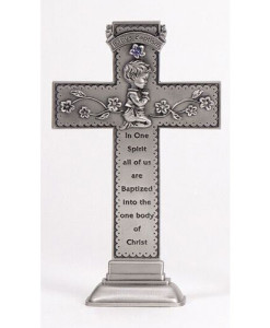 "Baby Boy 6"" Standing Cross"