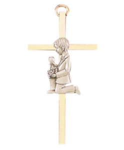 "First Communion Boy 4.25"" Cross"