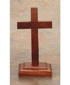 Walnut Wood 6 inch Cross