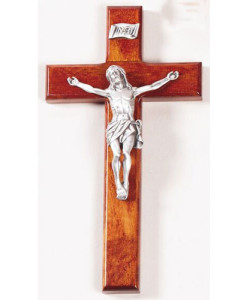 "Cherry 8"" Crucifix Antique Pewter Finish"