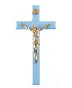 "Baby Boy 6.25"" Wood Cross"