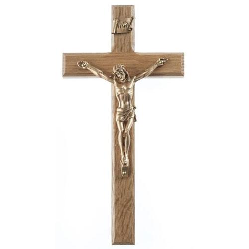 """Oak 6.25"""" Crucifix"""