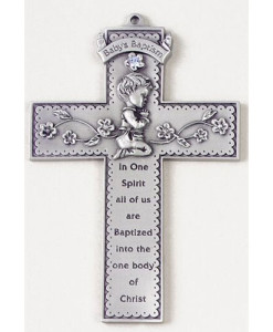 "Baby Boy 5"" Wall Cross"