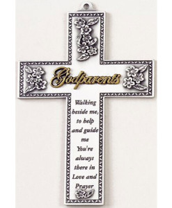 "Godparents 5"" Wall Cross"