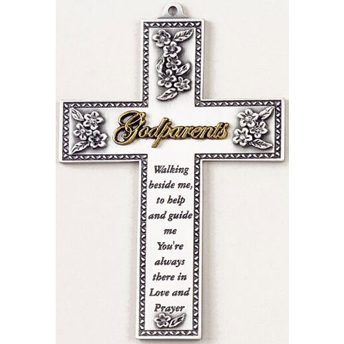 "Godparents 5"" Wall Cross"