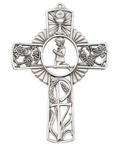 "First Communion Boy 5"" Wall Cross"