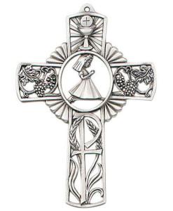 """First Communion Girl 5"""" Wall Cross"""