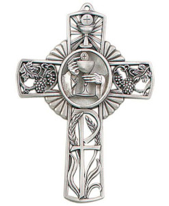 "First Communion Chalice 5"" Wall Cross"