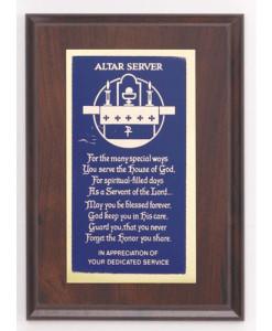 Altar Server Plaque