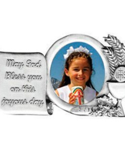 "First Communion Fine Pewter 4"" Frame"
