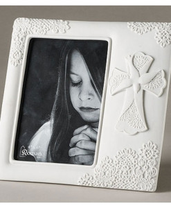 Confirmation Lace Frame 4 x 6 inch