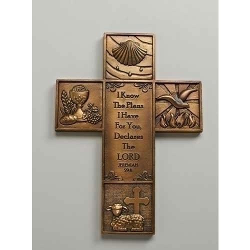 Multi Sacrament 8 ½ inch Wall Cross