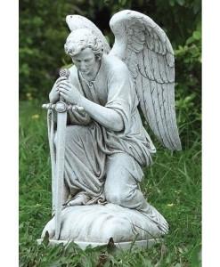 Kneeling Male Angel Statue