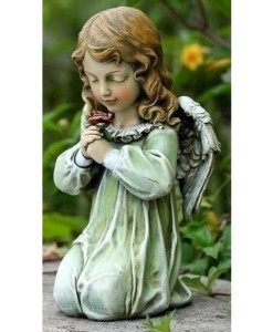 Kneeling Angel Child Statue