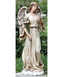 Angel with Dove Statue