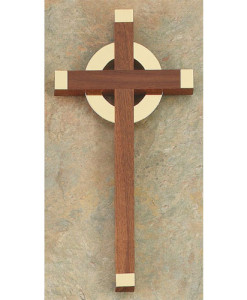 Walnut Wood 12 inch Cross